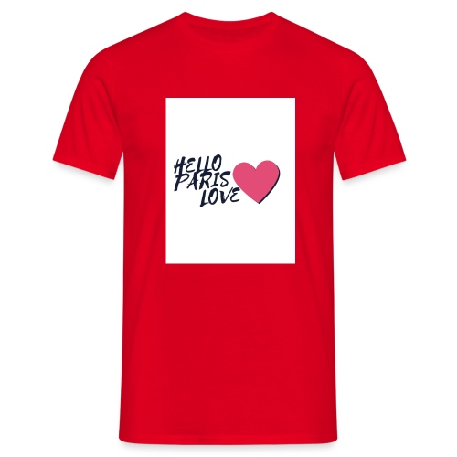 hello paris love 2 - T-shirt Homme