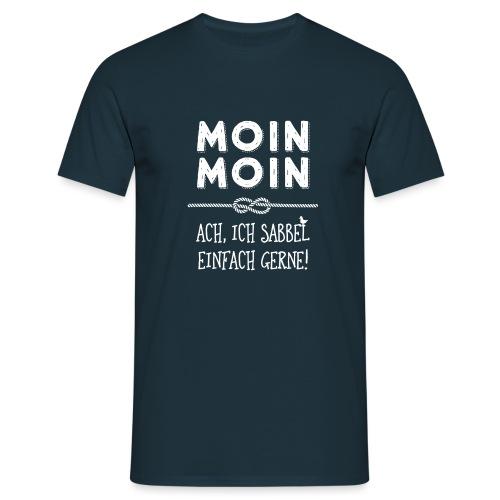 Moin - plattdeutscher norddeutscher Spruch - Männer T-Shirt