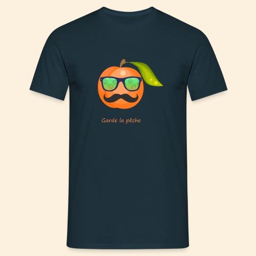Lunette, moustache garde la pêche - T-shirt Homme