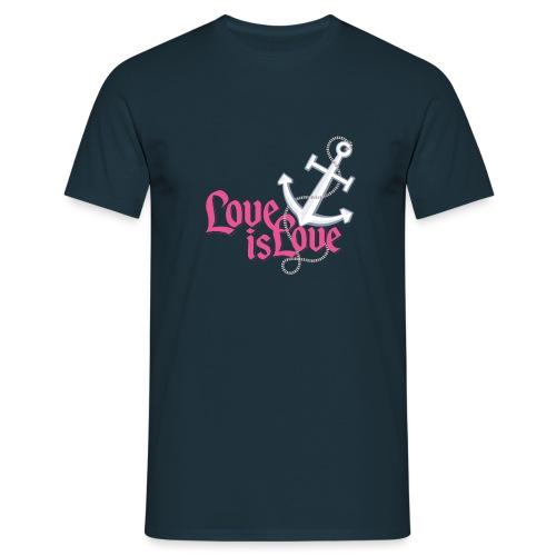 """Anker """"Love is Love"""" - Männer T-Shirt"""