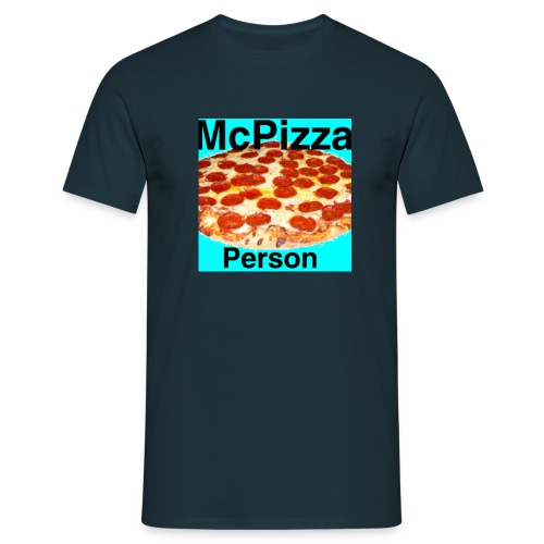 Old McPizzaPerson Logo - Men's T-Shirt