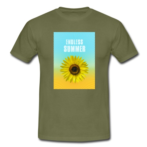 sunflower endless summer Sonnenblume Sommer - Men's T-Shirt