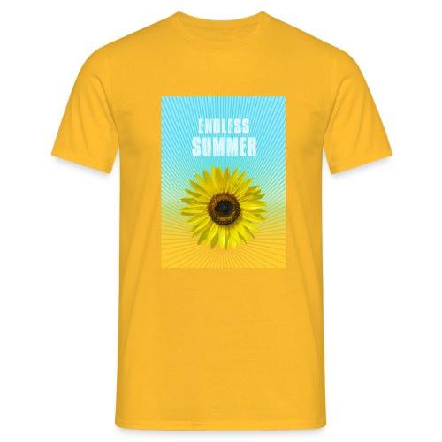 sunflower endless summer Sonnenblume Sommer - Men's T-Shirt