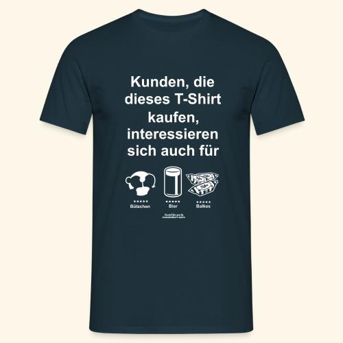 Karneval T Shirt Düsseldorf   Bier, Bützchen - Männer T-Shirt