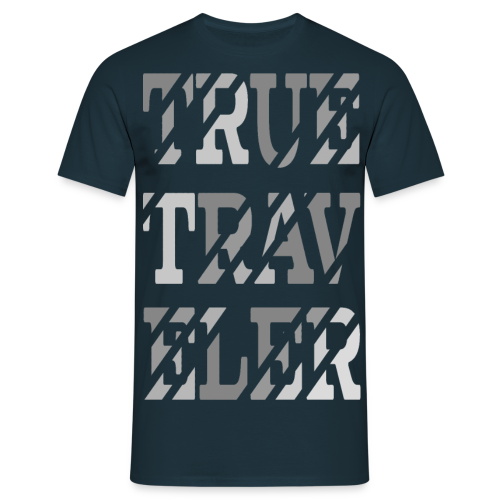 True Traveler Grey design - Miesten t-paita