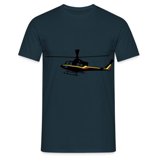 Bell 412 Schwarz mit Streifen - Männer T-Shirt
