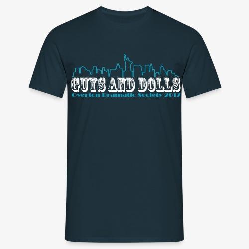 t-shirt1-blue-full-skylin - Men's T-Shirt