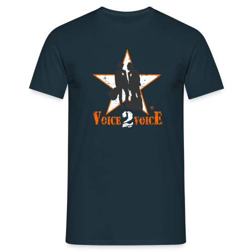 Voice 2 Voice Logo USED 14 12 2014 png - Männer T-Shirt