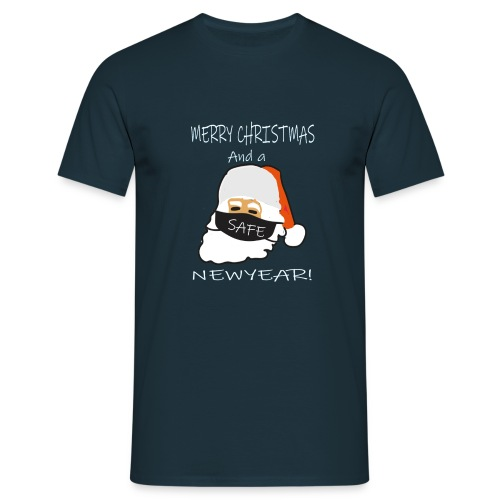 Merry christmams and a safe newyear - Mannen T-shirt