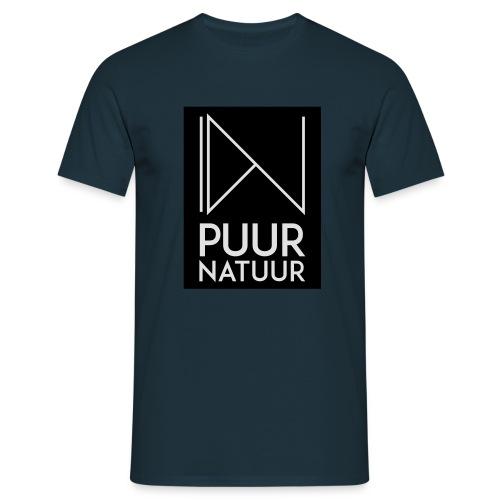 Logo puur natuur negatief - Mannen T-shirt