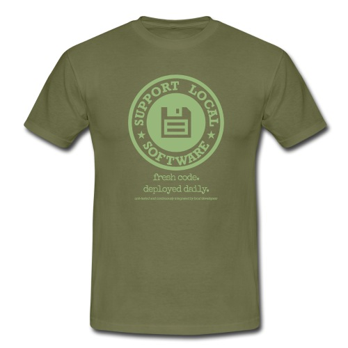 Fresh Code. Deployed Daily. - Men's T-Shirt