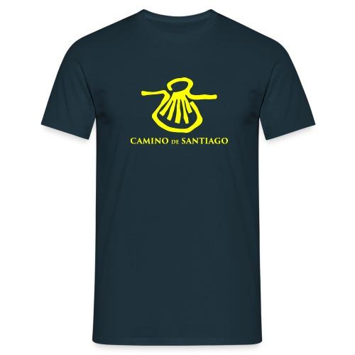 Camino de Santiago, yellow - Herre-T-shirt