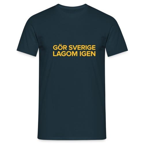 Gör sverige lagom igen - T-shirt herr