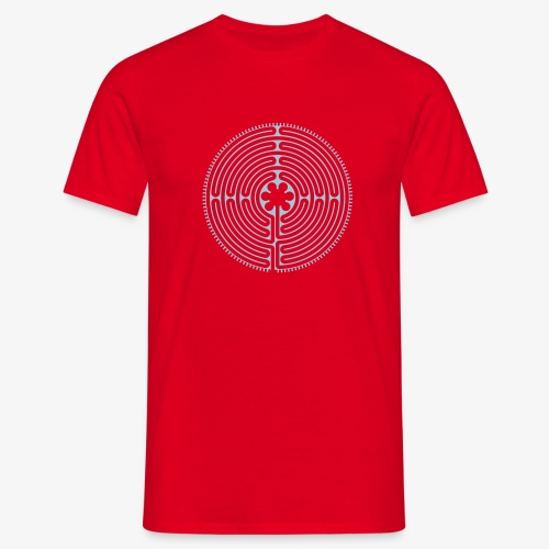 Labyrinth von Chartres - Männer T-Shirt