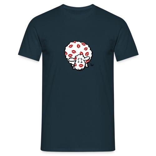 Kiss Ewe - Mannen T-shirt
