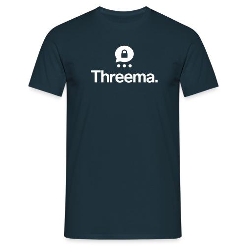 Logo mit Icon - Männer T-Shirt