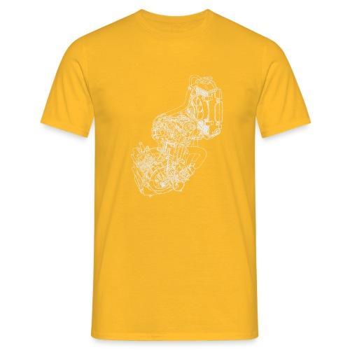 nx250 motorblok wit - Mannen T-shirt