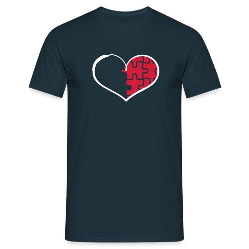 Half Heart Right - Men's T-Shirt