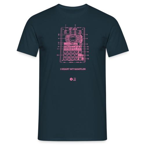 Heart SP404 Pink/Black - Men's T-Shirt