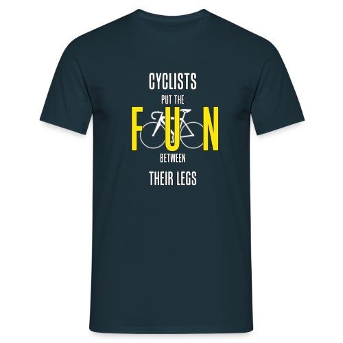 Cyclists Fun Between Legs - Men's T-Shirt