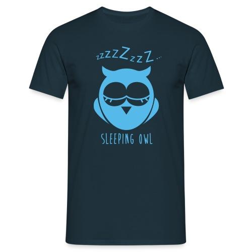 chouette qui dort - T-shirt Homme