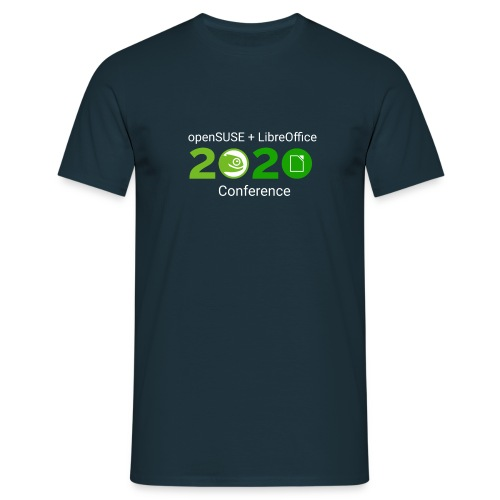 openSUSE + LibreOffice Conference 2020 - Men's T-Shirt