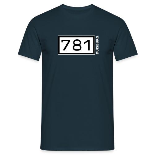 Rheinkilometer Duisburg - Männer T-Shirt