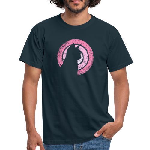 Kattsilhuett rosa - T-shirt herr
