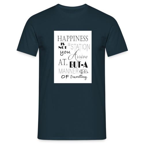 Travel Happy - Men's T-Shirt