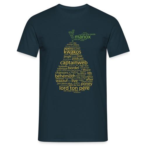 tshirtpoirefsombre - T-shirt Homme