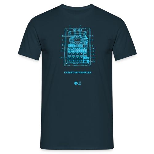 Heart SP404 Cyan - Men's T-Shirt