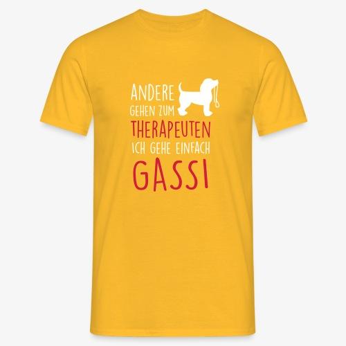 Gassi Therapeut Hund - Männer T-Shirt