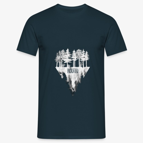Rooted Tee - white - Männer T-Shirt