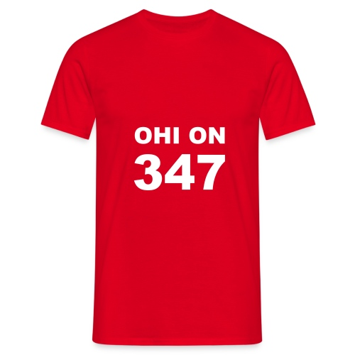 ohi on 347 - Miesten t-paita