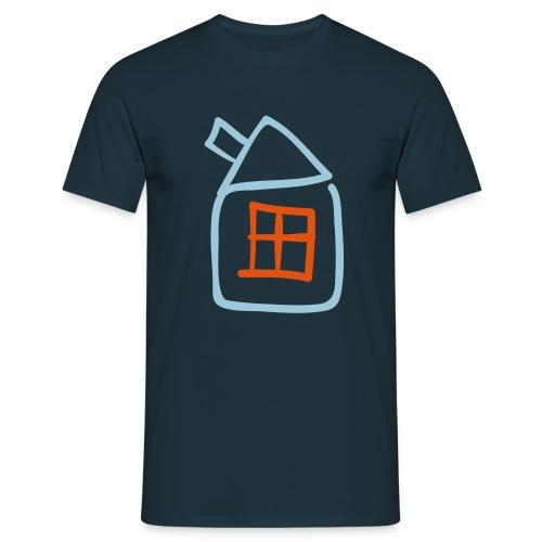 House Outline Pixellamb - Männer T-Shirt