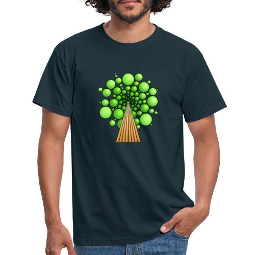 Kugel-Baum, 3d, hellgrün - Männer T-Shirt