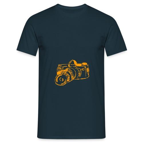 Kamera F orange - Männer T-Shirt