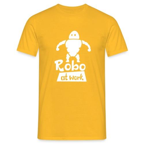 robot at work - Männer T-Shirt