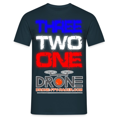 THREE TWO ONE DRONE3 - T-shirt Homme