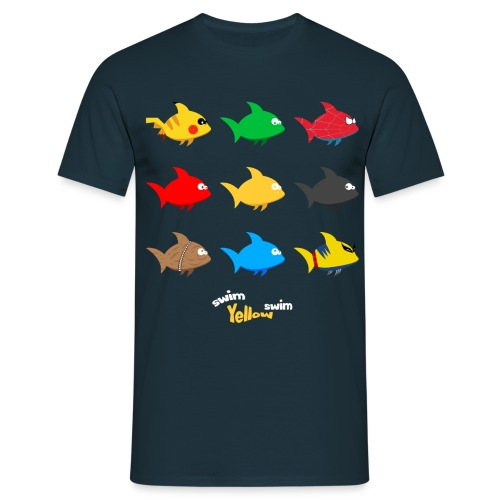 Swim! Yellow! Swim! - Mannen T-shirt