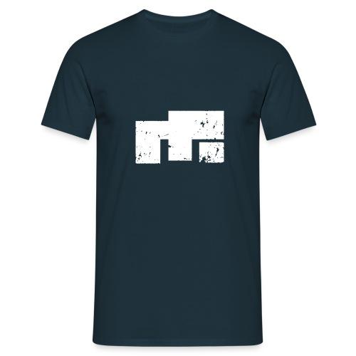 emx logo e white - Männer T-Shirt