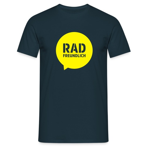 Radfreundlich Ärmel gelb - Männer T-Shirt