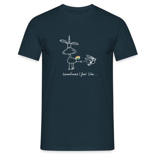 Dru - sometimes I feel like... (weisse Outline) - Männer T-Shirt