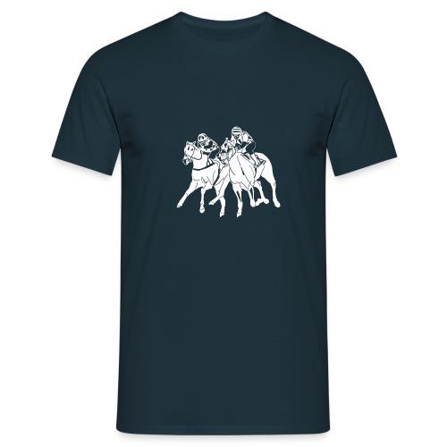 aufkleber scherenschnitttransparent weis - Männer T-Shirt
