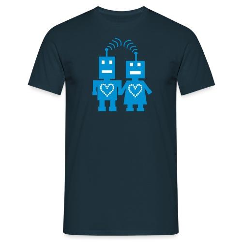 Roboter Liebe - Männer T-Shirt
