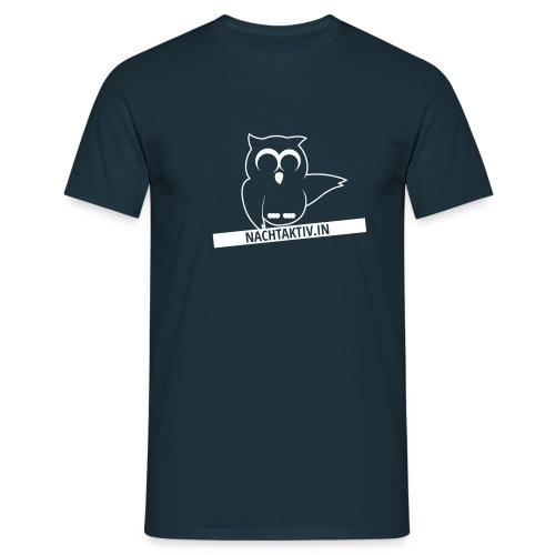 Eule mit Label 1c - Männer T-Shirt