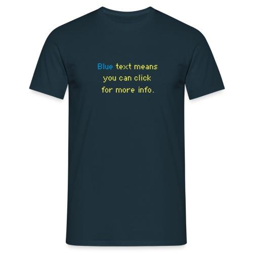 bluetext - Männer T-Shirt