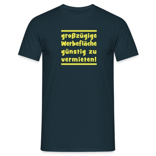 werbeflaeche - Männer T-Shirt