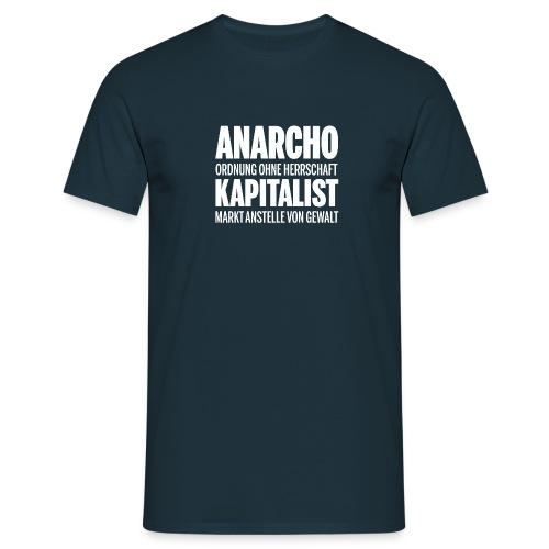 AnarchoKapitalist png - Männer T-Shirt