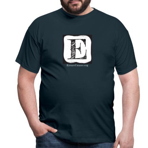 Logo ErrareUmano con scritta bianca - Maglietta da uomo